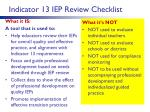 indicator 13 iep review checklist