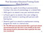 post secondary education training goals more examples