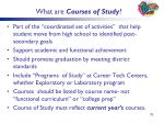 what are courses of study