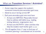 what are transition services activities