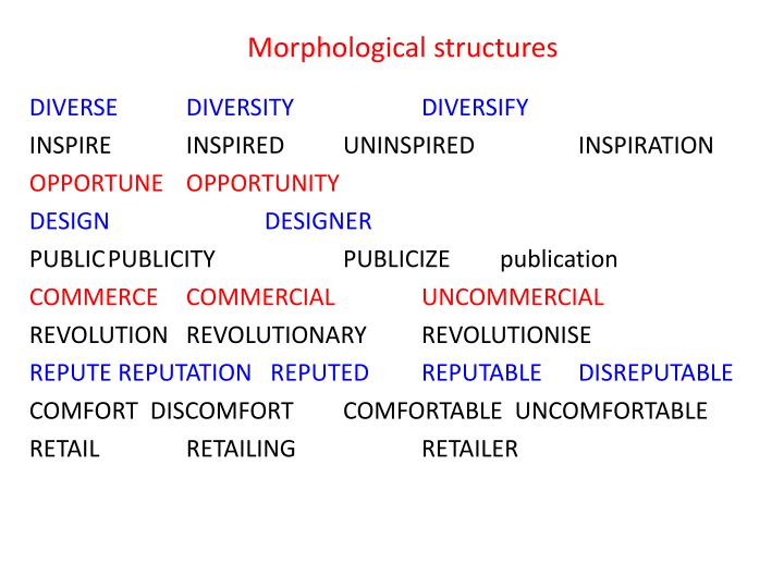 Morphological structures