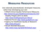 measures resources