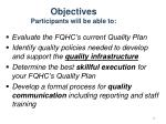 objectives participants will be able to