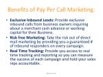 benefits of pay per call marketing