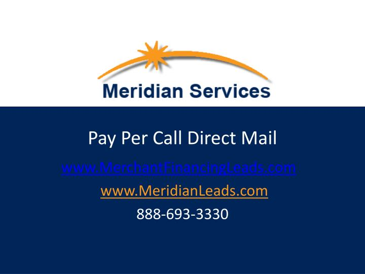 pay per call direct mail n.