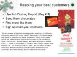 keeping your best customers