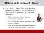 return on investment math3