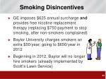 smoking disincentives