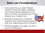 state law considerations