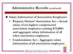 administrative records continued