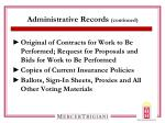 administrative records continued1