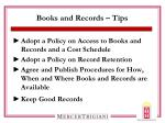 books and records tips