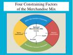 four constraining factors of the merchandise mix