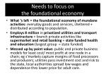 needs to focus on the foundational economy