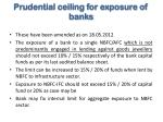 prudential ceiling for exposure of banks