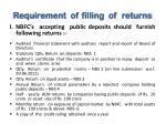 requirement of filling of returns
