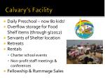 calvary s facility