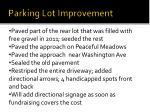 parking lot improvement