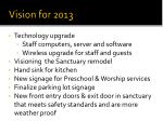 vision for 2013
