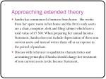approaching extended theory3