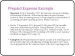 prepaid expense example