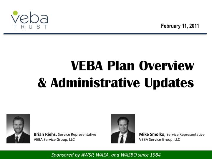 veba plan overview administrative updates n.