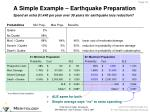 a simple example earthquake preparation