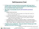 self insurance cost