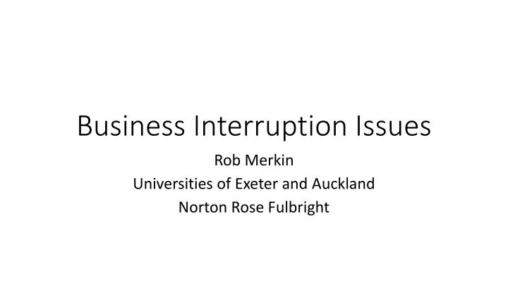business interruption issues n.