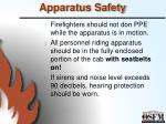 apparatus safety