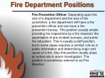 fire department positions6