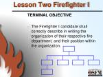 lesson two firefighter i