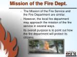 mission of the fire dept