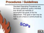 procedures guidelines