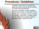 procedures guidelines2
