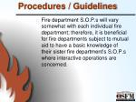procedures guidelines4