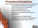 procedures guidelines5