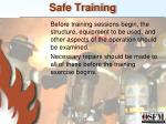 safe training1