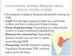 case studies andhra pradesh urban health centre scheme