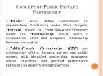 concept of public private partnership