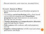 franchising and social marketing