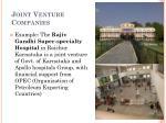 joint venture companies1
