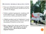 running mobile health units