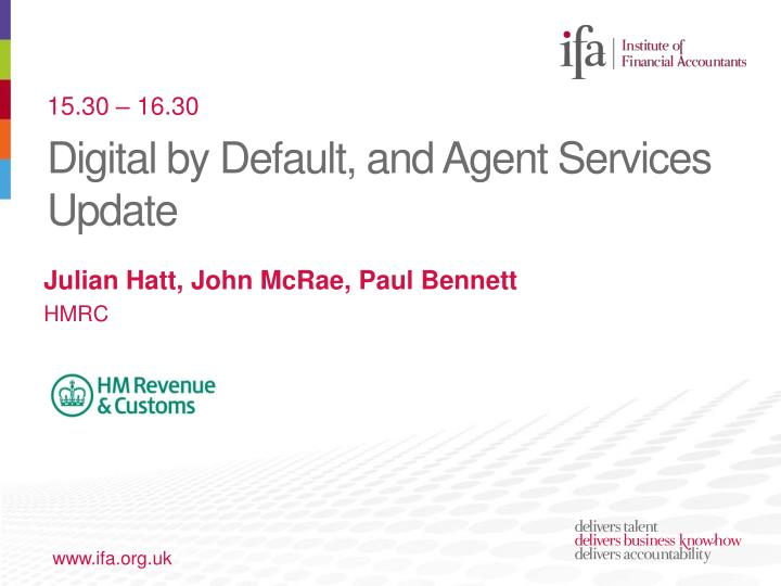 digital by default and agent services update n.