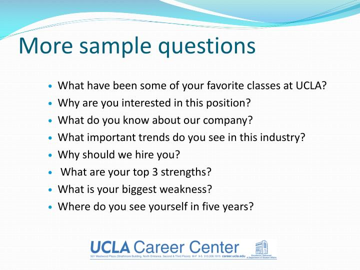More sample questions