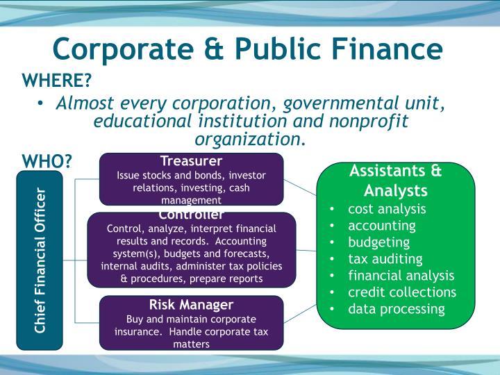Corporate & Public Finance
