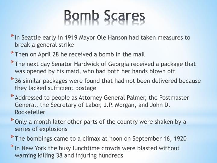 In Seattle early in 1919 Mayor Ole Hanson had taken measures to break a general strike