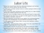 labor life