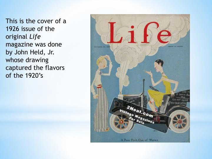This is the cover of a 1926 issue of the original