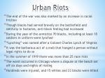 urban riots